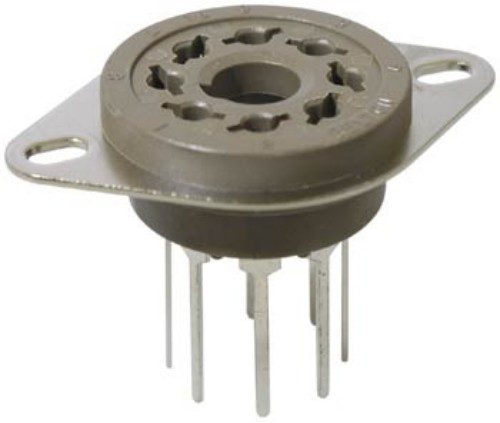 8 Pin Octal Belton Micalex Valve Socket with Long Legs PC Mount VT8-PT